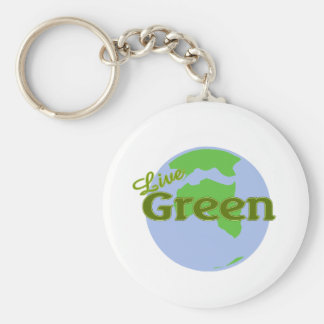 live green planet earth keychain
