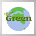 live green planet earth print