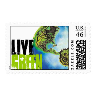 Live Green Postage Stamp