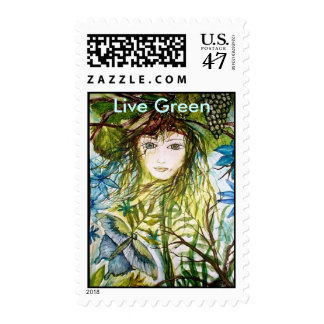 Live Green Postage Stamp