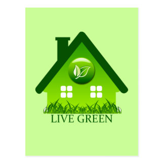 LIVE GREEN POST CARD