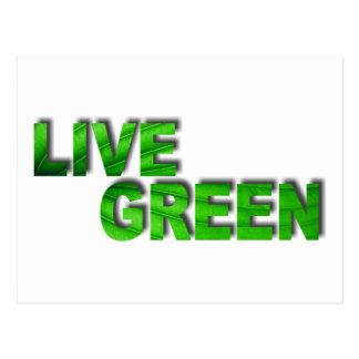 Live Green Postcard