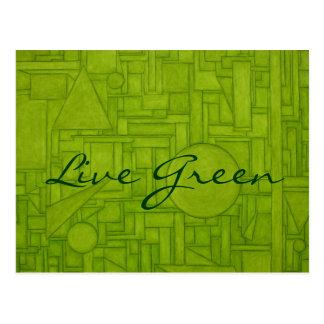 Live Green Postcard! Postcard