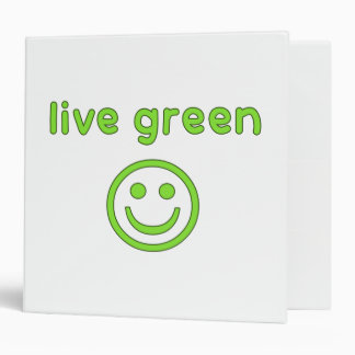 Live Green Pro Environment Eco Friendly Renewable 3 Ring Binder
