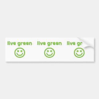 Live Green Pro Environment Eco Friendly Renewable Bumper Sticker