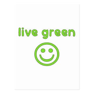 Live Green Pro Environment Eco Friendly Renewable Postcard