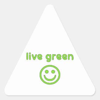 Live Green Pro Environment Eco Friendly Renewable Triangle Sticker