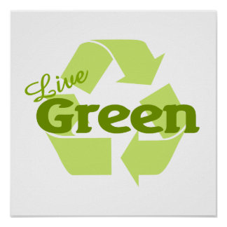 live green recycle poster