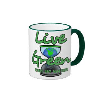 Live Green Ringer Mug