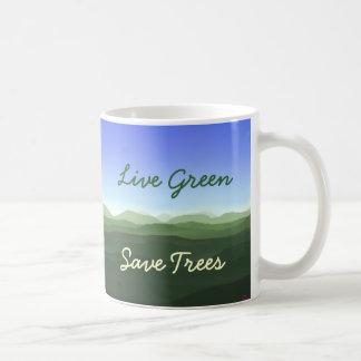 Live Green, Save Trees Classic White Coffee Mug
