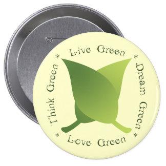 Live green, think green, dream green, love green button
