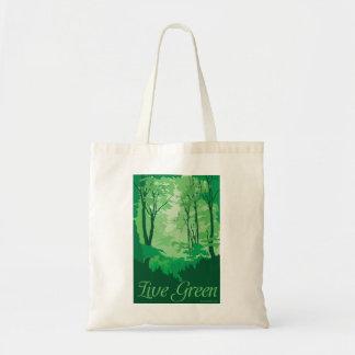 Live Green - Tree Hugger Tote Bag