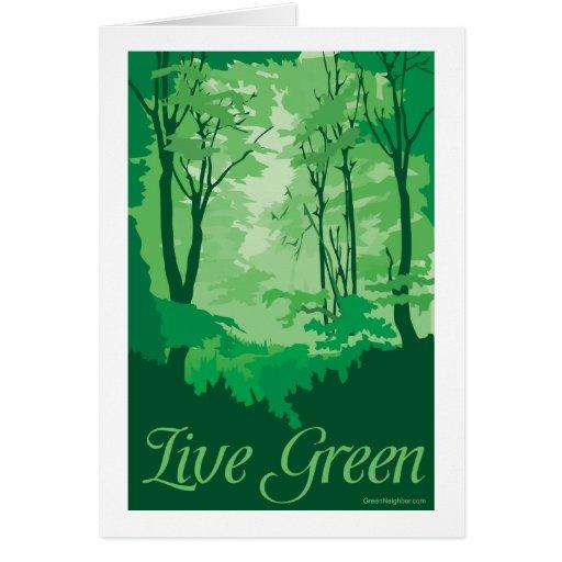 Live Green - Tree Hugger Greeting Card