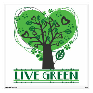 Live Green Tree of Hearts Wall Skins