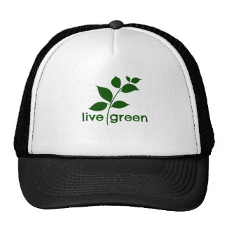 LIVE GREEN TRUCKER HAT