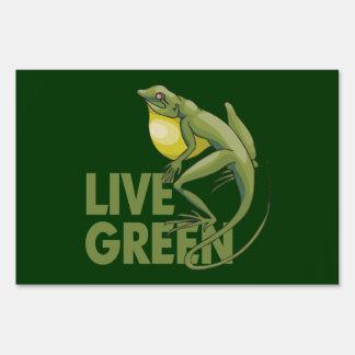 Live Green Yard Sign