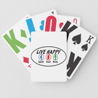 LIVE HAPPY Spirit Soul Body Bicycle Playing Cards