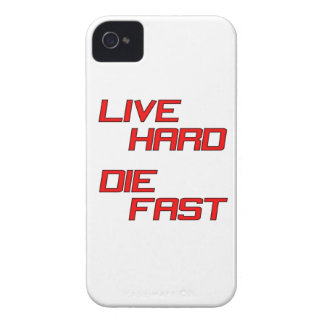 Live Hard Die Fast Case-Mate iPhone 4 Cases