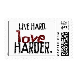Live Hard Love Harder Stamps