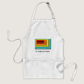 Live Healthy Avoid Diabetes Adult Apron