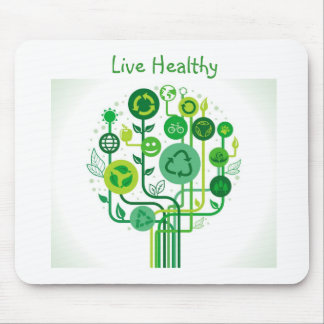 Live Healthy Collection Mousepads