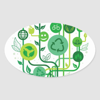 Live Healthy Collection Oval Sticker
