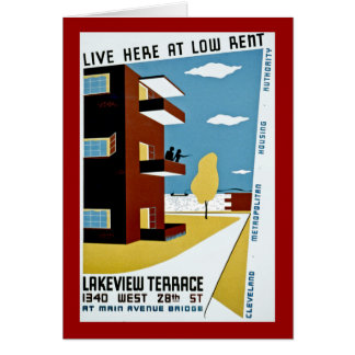 Live Here at Low Rent Greeting Card