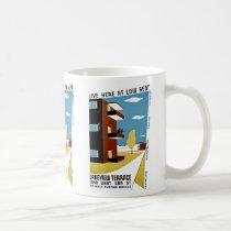 Live Here at Low Rent Coffee Mug