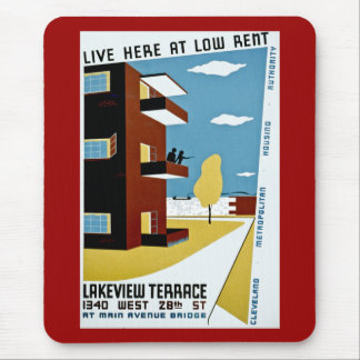 Live Here at Low Rent Mouse Pad