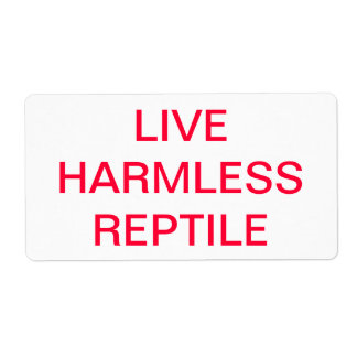 LIVE HERMLESS REPTILE LABEL