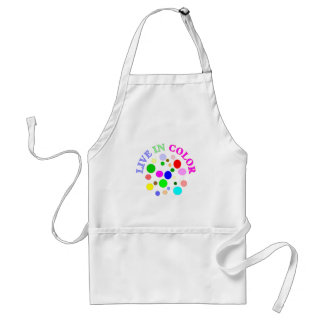 Live in Color Adult Apron