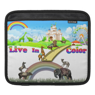 Live In Color Vintage Circus Animals Team Work Sleeve For iPads
