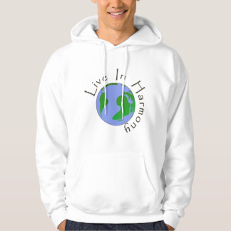 Live in Harmony - Planet Earth Men's Hoodie