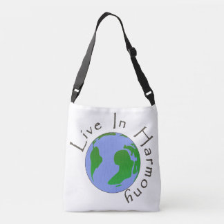 Live in Harmony - Planet Earth Shoulder Bag