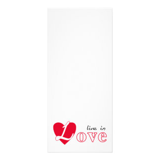 Live in love rack card