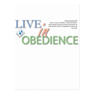 Live In Obedience Postcard