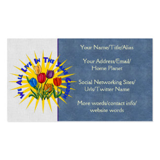 Live In Peace Garden Business Card