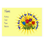 Live In Peace Garden Large Business Cards (Pack Of 100)