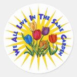 Live In Peace Garden Classic Round Sticker