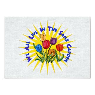 Live In Peace Garden 5x7 Paper Invitation Card