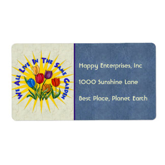 Live In Peace Garden Shipping Label
