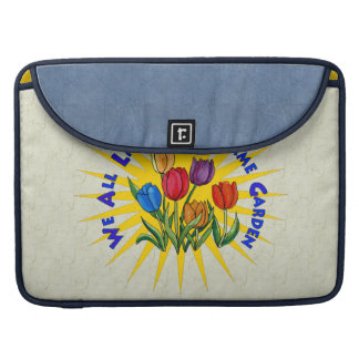 Live In Peace Garden Sleeves For MacBook Pro