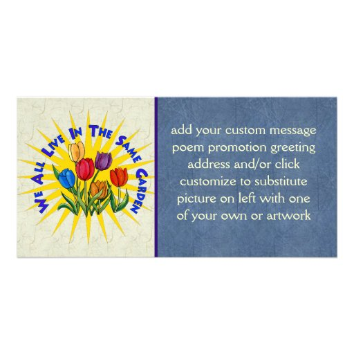 Live In Peace Garden Photo Card Template