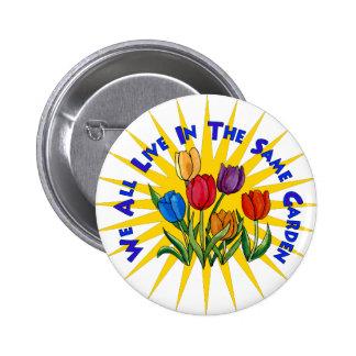Live In Peace Garden Pinback Button