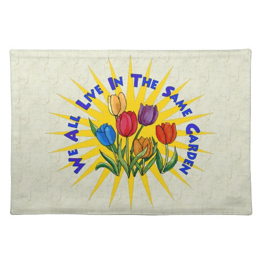 Live In Peace Garden Placemat