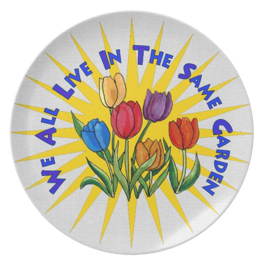 Live In Peace Garden Plate