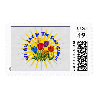 Live In Peace Garden Postage Stamps