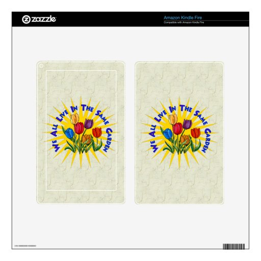 Live In Peace Garden Skins For Kindle Fire