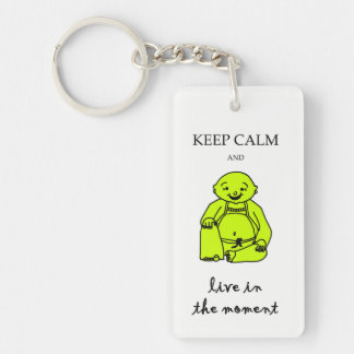 Live in the moment keychain