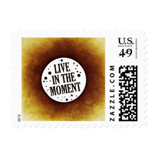 Live in the Moment Motivational Stamp